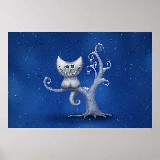 A Cheshire Kitten (Christmas) Print