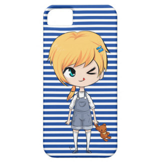 A Chibi Boy and His Bear iPhone 5 Covers