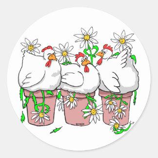 a chicken in every pot zazzle round sticker