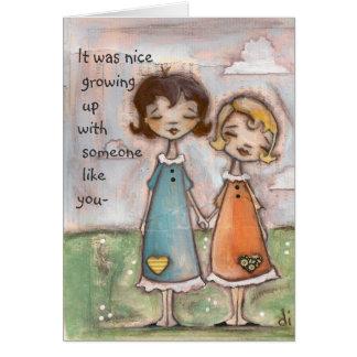 A Childhood Shared - Birthday Card