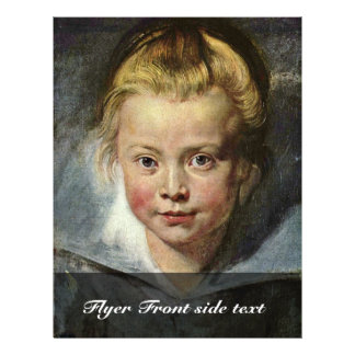 A Child'S Head (Portrait Of Clara Serena Rubens 21.5 Cm X 28 Cm Flyer