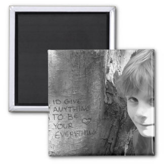 A childs only wish. square magnet