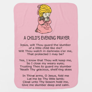 A CHILD'S PRAYER BABY BLANKET