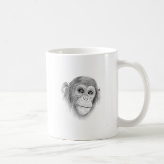 A Chimpanzee, Not Monkeying Around Sketch Coffee Mug