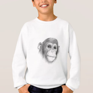 A Chimpanzee, Not Monkeying Around Sketch Sweatshirt