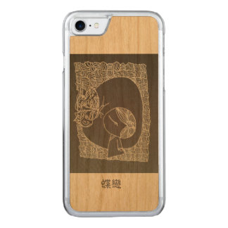 A Chinese girl falling in love with butterfly Carved iPhone 8/7 Case