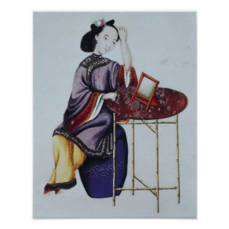 A Chinese Woman Arranging her Hair Poster