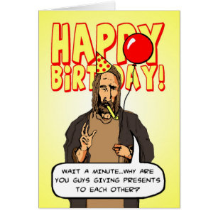 Atheist holiday greeting cards zazzle a christmas birthday card m4hsunfo