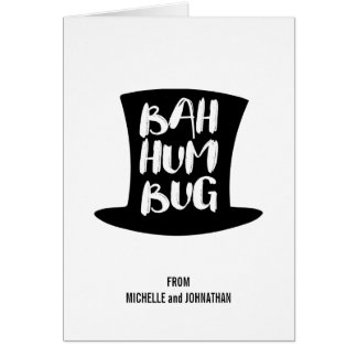 A Christmas Carol Bah Humbug Holiday Greeting Card