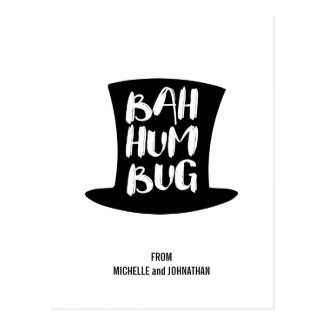 A Christmas Carol Bah Humbug Holiday Postcard