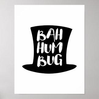 A Christmas Carol Bah Humbug Holiday Poster Sign