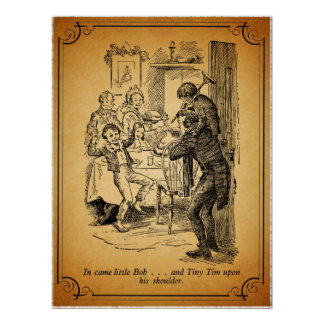A Christmas Carol: Little Bob & Tiny Tim Poster