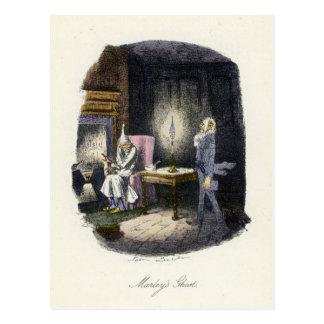 A Christmas Carol - Marley's Ghost Postcard