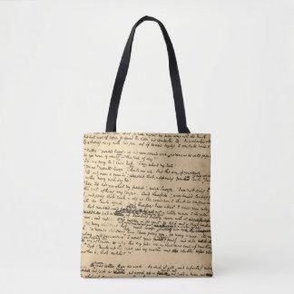 A Christmas Carol Original Manuscript Tote Bag