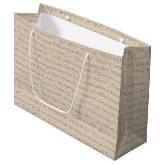 A Christmas Carol Quote Large Gift Bag