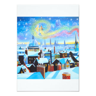 A Christmas Carol Scrooge and ghost of past 13 Cm X 18 Cm Invitation Card