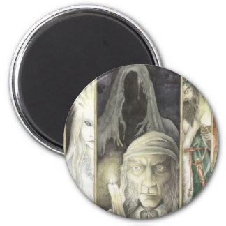 A Christmas Carol, Scrooge and the Three Ghosts 6 Cm Round Magnet