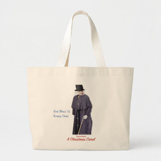 A Christmas Carol Scrooge Large Tote Bag