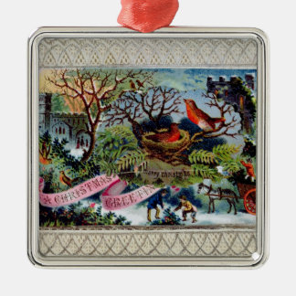 A Christmas Greeting, Victorian postcard Ornaments