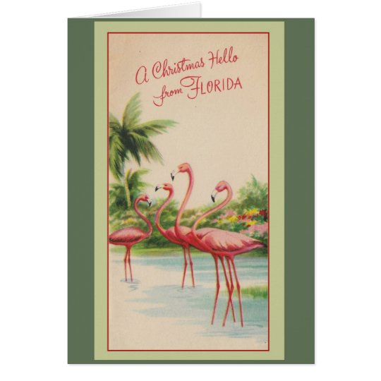 A Christmas Hello from Florida! Card