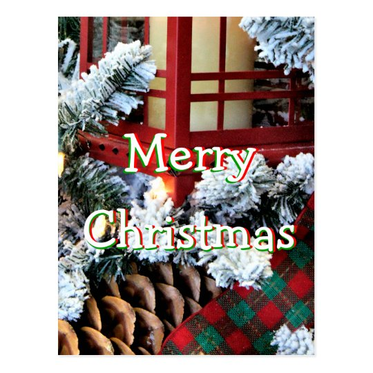A Christmas Lantern 1558-1- -personalise it Postcard