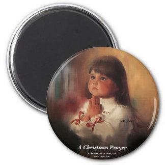 A Christmas Prayer 6 Cm Round Magnet