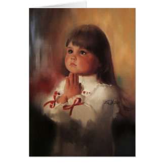 A Christmas Prayer Greeting Card