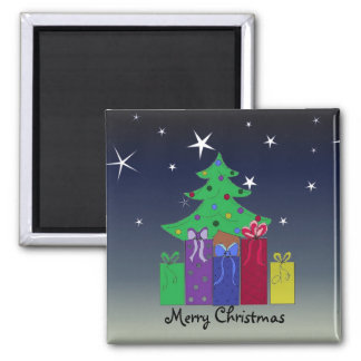 A Christmas Scene Square Magnet