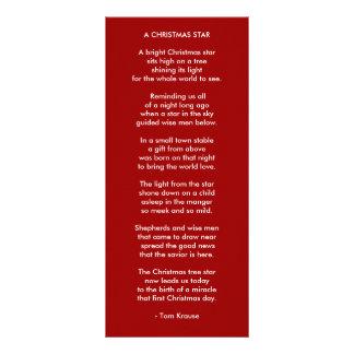 A CHRISTMAS STAR CUSTOMIZED RACK CARD
