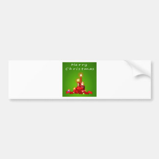 A christmas template with candles bumper sticker