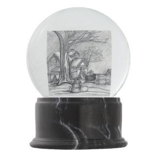 A Christmas Winter Day Snow Globe