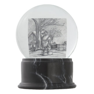 A Christmas Winter Day Snow Globes