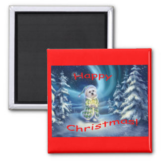 A Christmas Wish Square Magnet