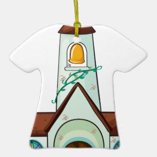 a church ceramic T-Shirt ornament