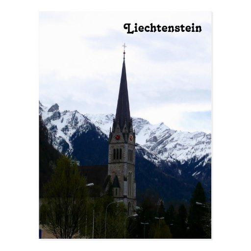 A Church in Vaduz, Liechtenstein Post Cards