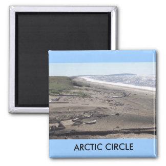 a circle, ARCTIC CIRCLE Square Magnet
