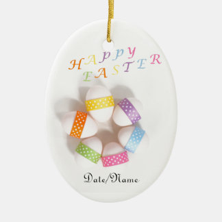 A Circle of Decorated Easter Eggs Christmas Tree Ornament