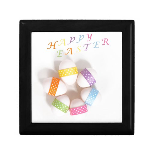 A Circle of Decorated Easter Eggs Gift Boxes