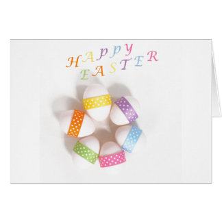 A Circle of Decorated Easter Eggs Greeting Card
