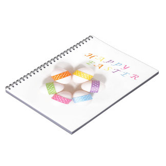A Circle of Decorated Easter Eggs Note Books