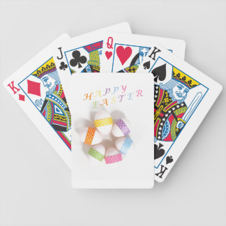 A Circle of Decorated Easter Eggs Poker Cards