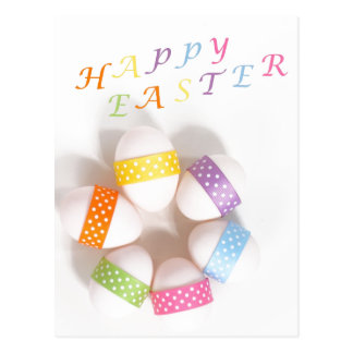 A Circle of Decorated Easter Eggs Postcard