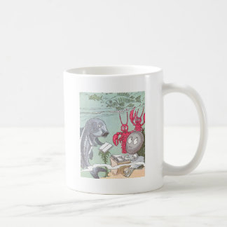 A Clam at School with Fish & Lobsters Coffee Mug