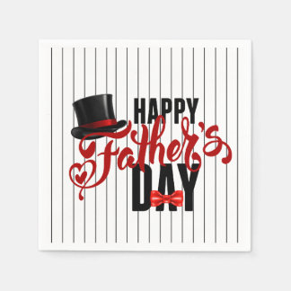 A Class Act Father's Day Party Paper Napkins Disposable Serviette