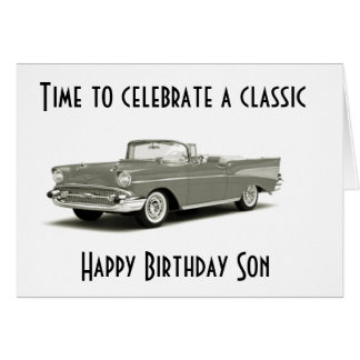"A CLASSIC BIRTHDAY"" TO A ""CLASSIC SON*** CARD"