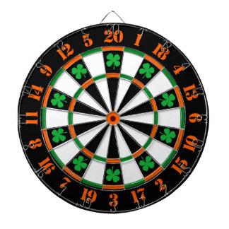 A Classic Game of Darts Shamrocks Irish Colors Dartboard