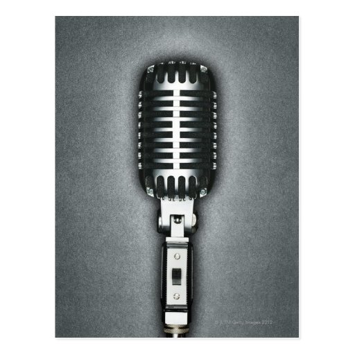 A Classic microphone Post Cards