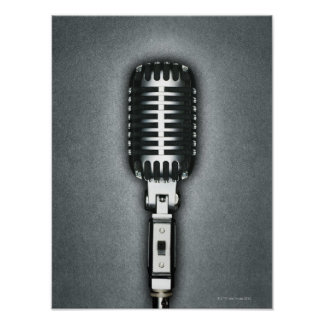 A Classic microphone Poster
