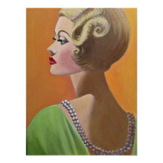 A Classy Vintage Lady Poster