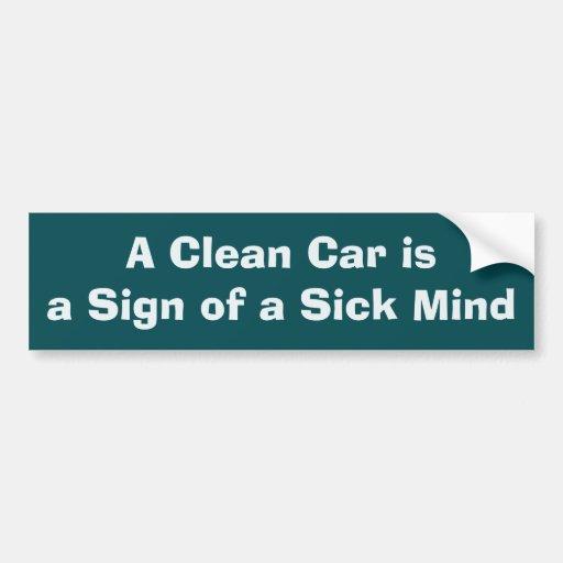 A Clean Car Sticker Bumper Sticker